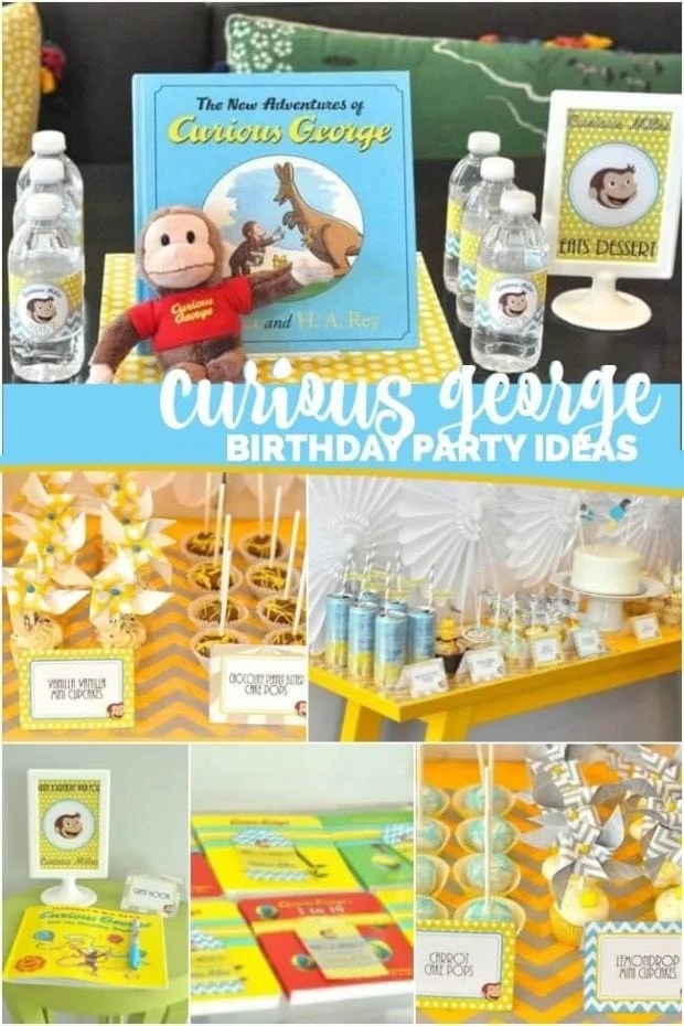 Curious George Themed Second Birthday Party Spaceships And Laser Beams