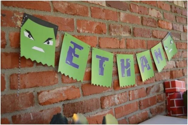 Incredible Hulk Themed Superhero Birthday Party