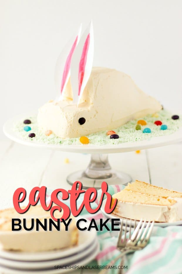 Easter Bunny Cake on a Cake Stand