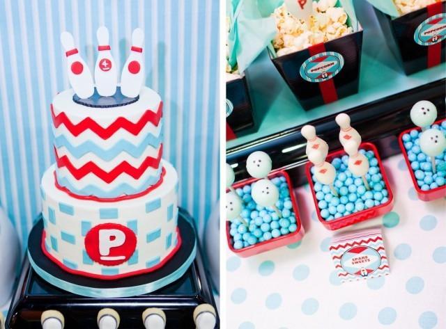 Retro Boy's Bowling Birthday Party