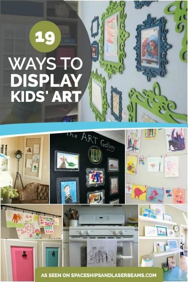 Ways to Display Kids School Art Work