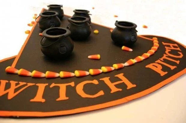 Halloween Witch Pitch Game