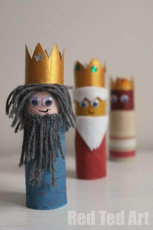 Toilet Paper Roll Crafts 3 kings
