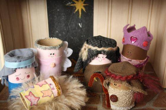 Toilet Paper Roll Crafts Nativity