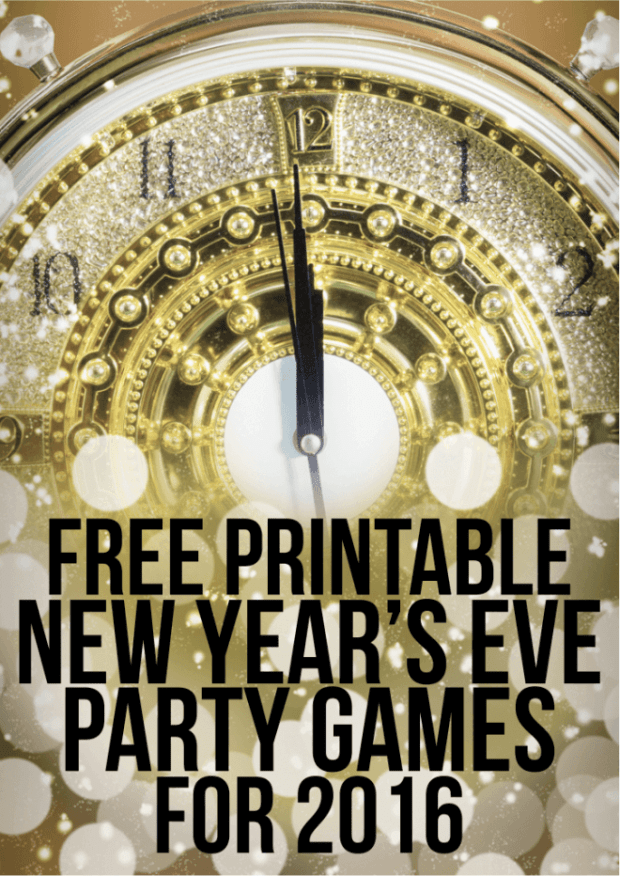 Free Printable Party Games for New Years