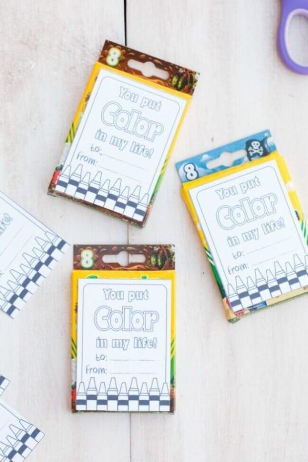 Crayon Valentines Day Ideas