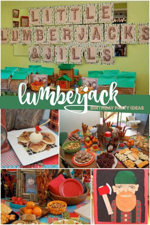 Lumberjack boy girl birthday party ideas