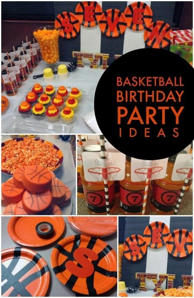 Boys Basketball Themed Birthday party