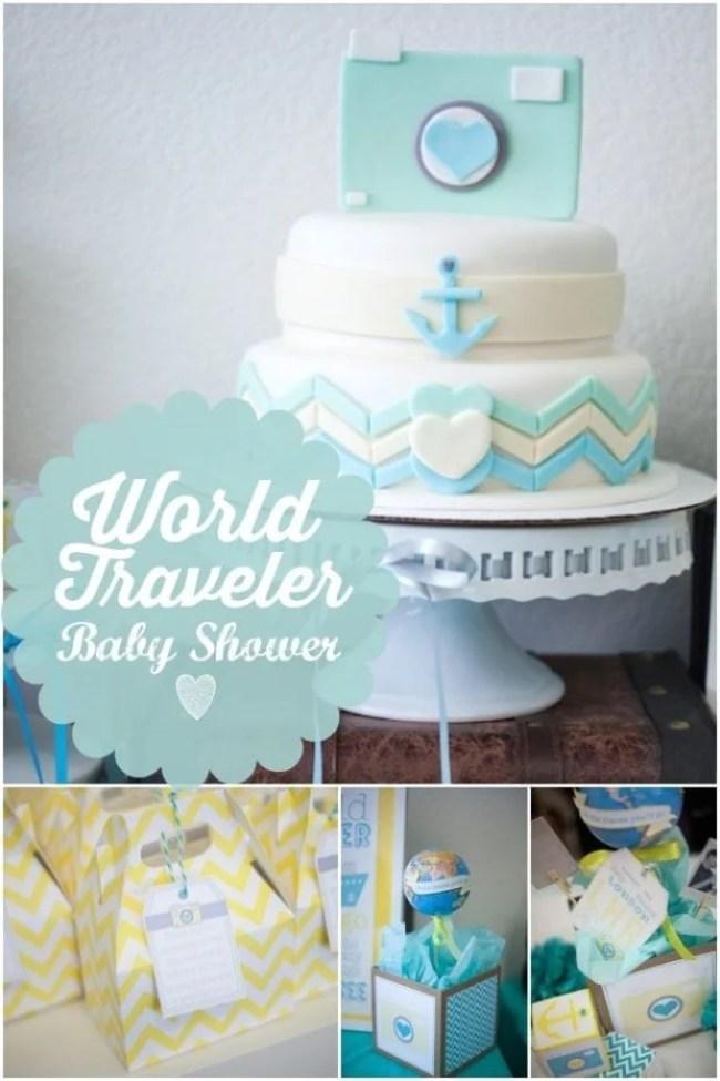 Boys World Traveler Baby Shower