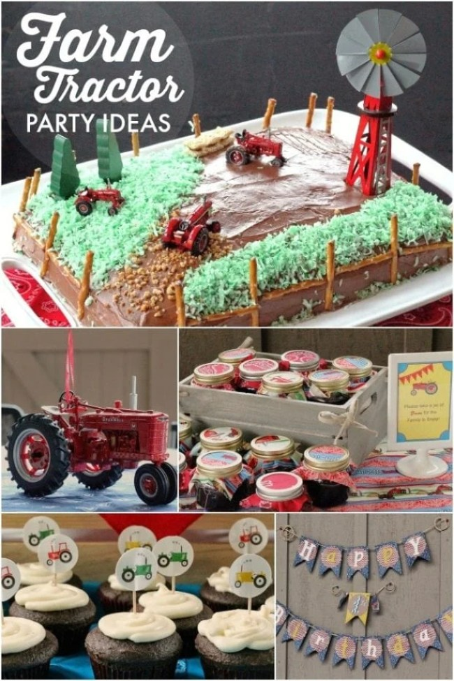 Boy's Down on the Farm Tractor Party
