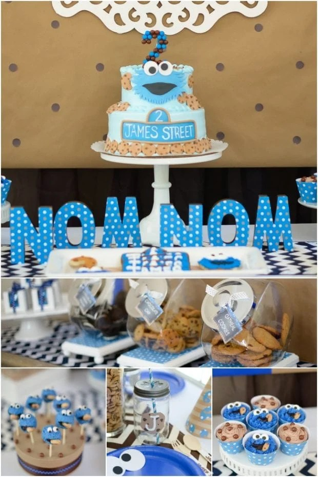 A Boy S Cookie Monster Birthday Party Spaceships And Laser Beams
