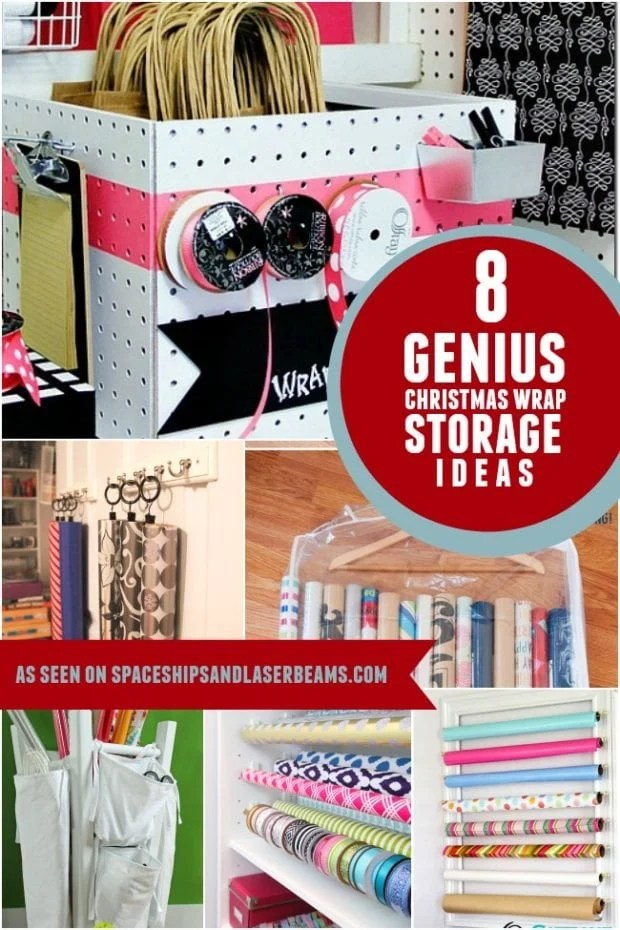 Christmas Wrapping Paper Storage Ideas