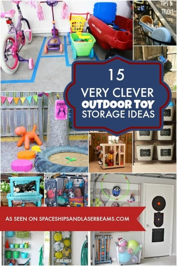 Clever Outdoor Toy Storage Ideas