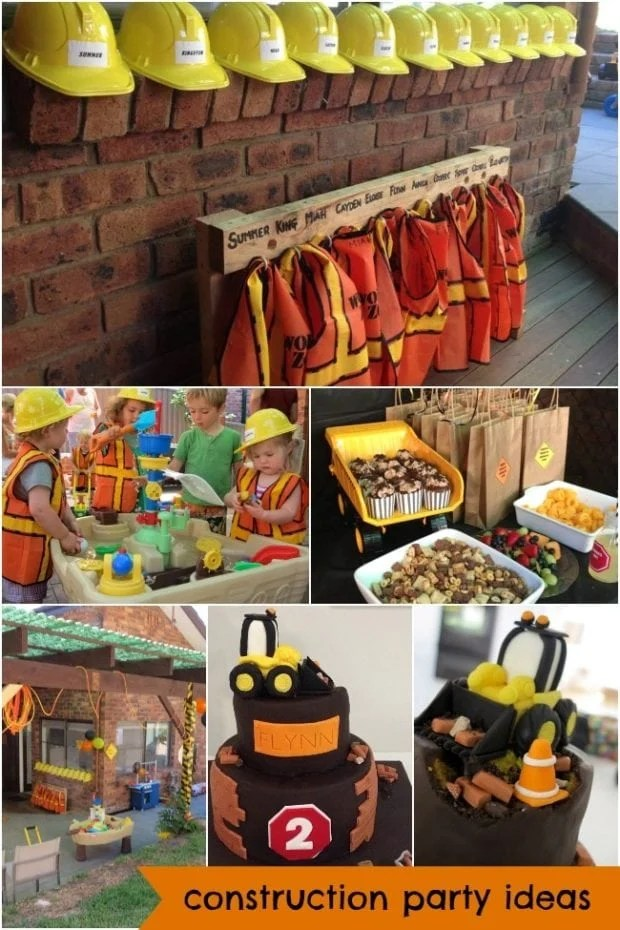 Construction Truck Boy S Birthday Party Theme Spaceships And Laser Beams
