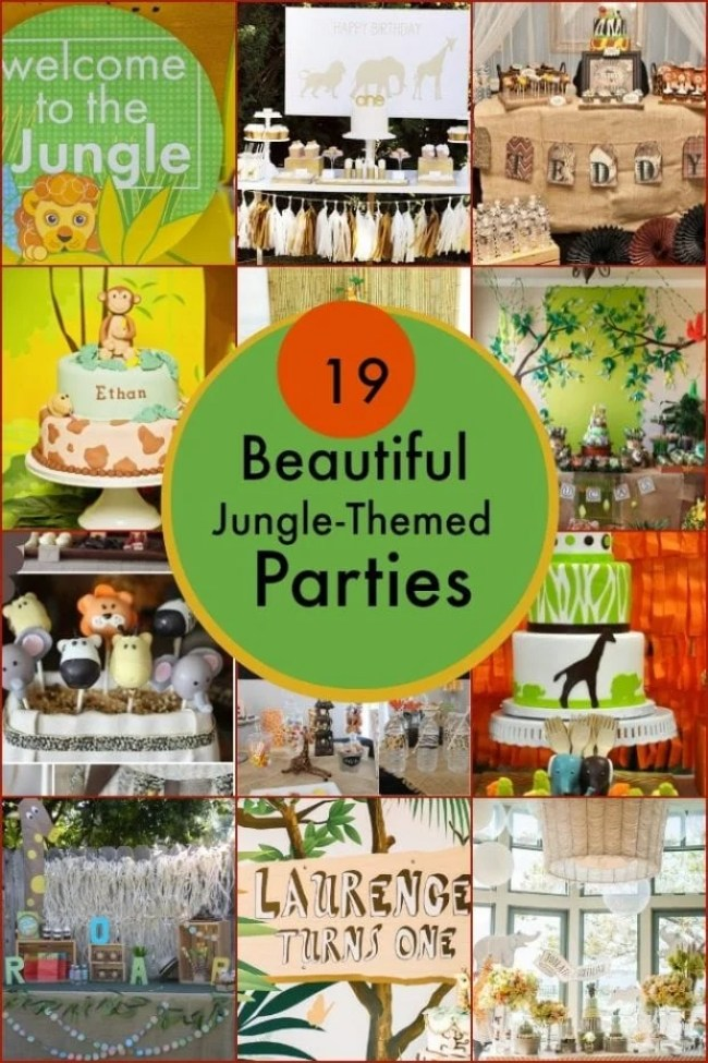 Jungle Themed Birthday Party Ideasjpg