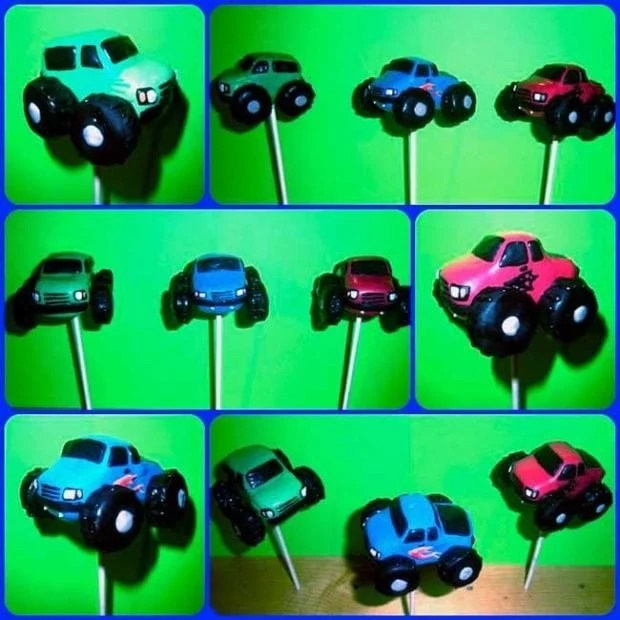 Monster Truck Cake Pops Boy Party Ideas Spaceships And
