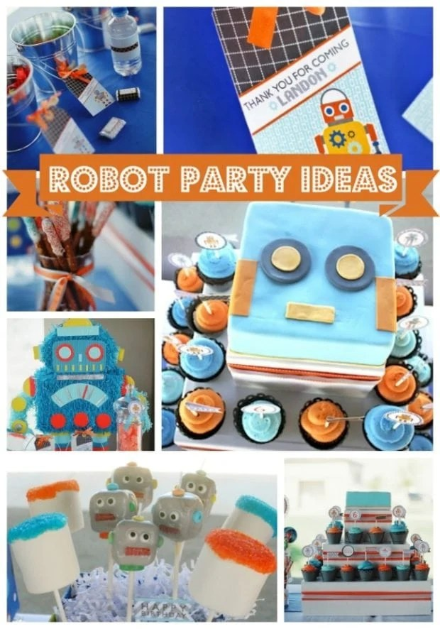 Boys Robot Themed 6th Birthday Party