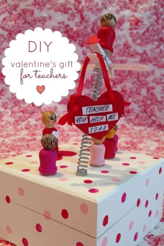 A DIY Valentines Gift For Teacher With Apple Barrel Craft