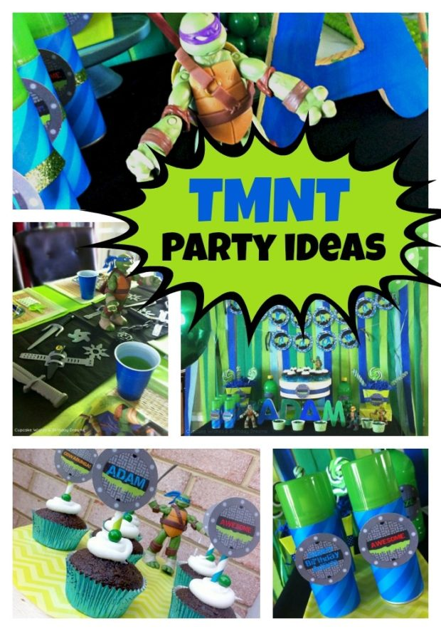 Teenage Mutant Ninja Turtles Birthday Party Spaceships