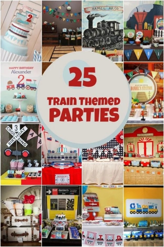 25 Train Themed Birthday Parties