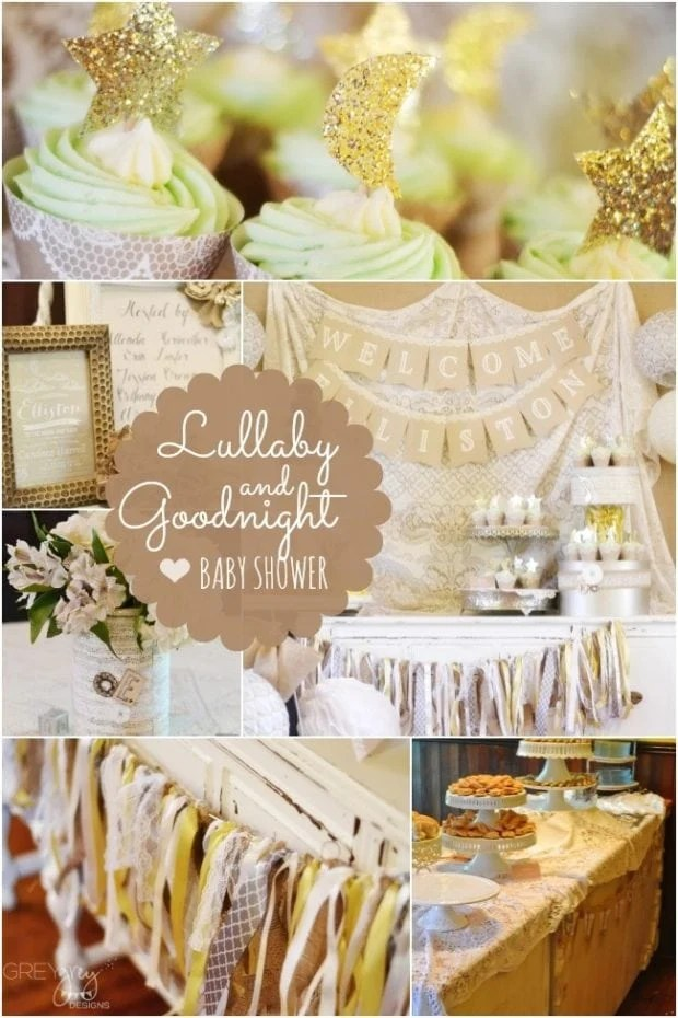 A Romantic Lullaby And Goodnight Boy Baby Shower
