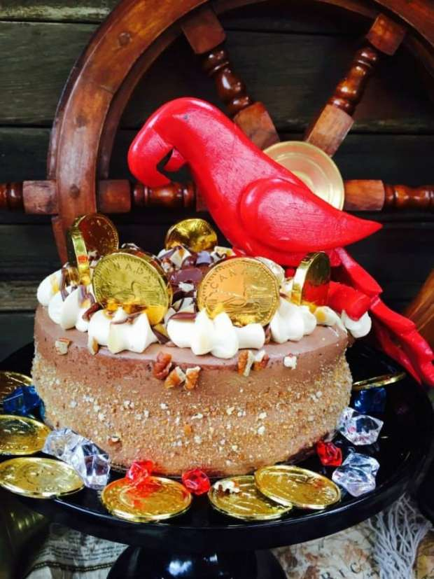 Boy's Pirate Themed Birthday Cake