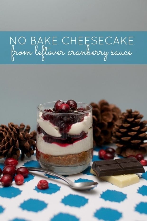 Easy No Bake Cranberry Cheesecake