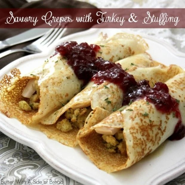 Savory Crepes with Turkey & Stuffing