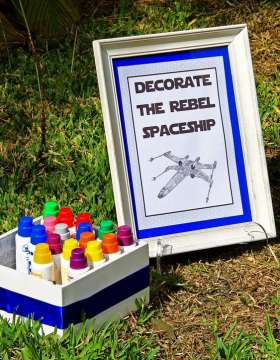 A Boy s Star Wars Birthday Party   Spaceships and Laser Beams Boys Star Wars Themed Birthday Party Game Activity Ideas