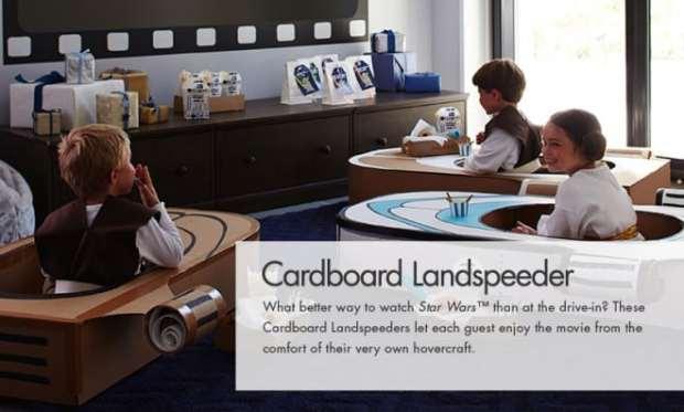 Cardboard Lanspeeder