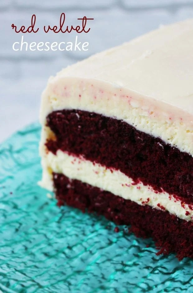 The perfect Valentine's Day cake: Red Velvet Cheesecake.