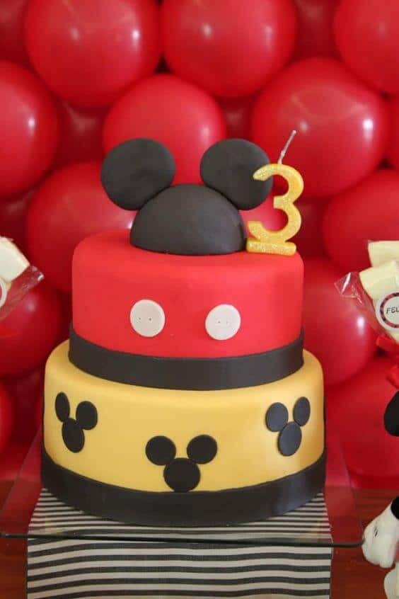12 Mickey Mouse Cake