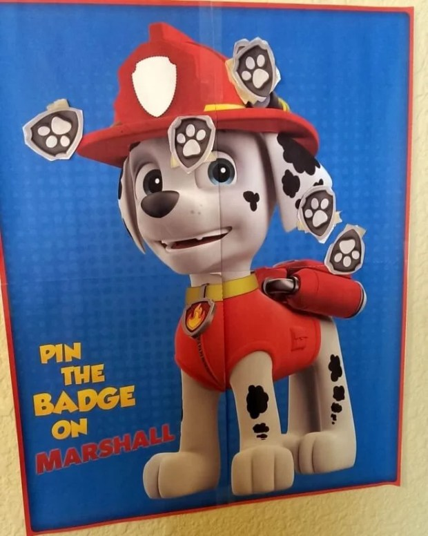 Pin the Badge on Marshall Game for PAW Patrol party