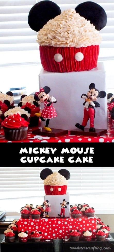 22 Mickey Mouse Cupcake Cake