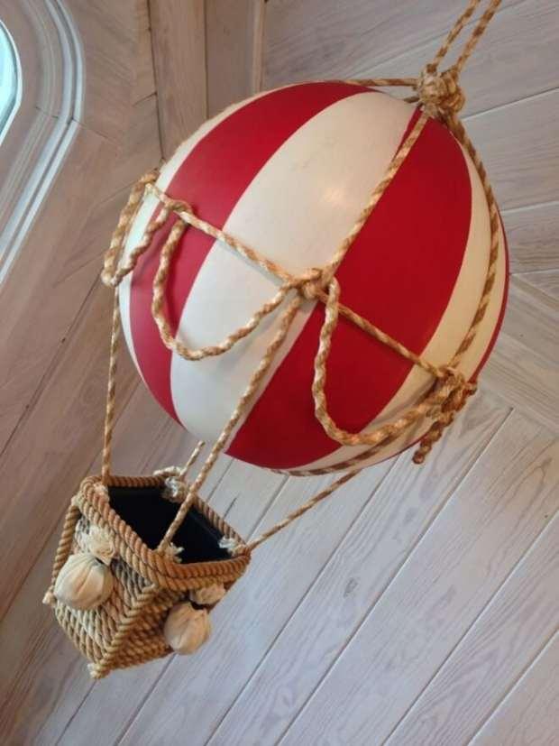 Beach Ball Hot Air Balloon Decoration