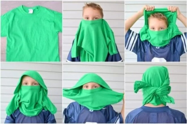 Learn how to make a Lego Ninjago Mask out of a t-shirt!