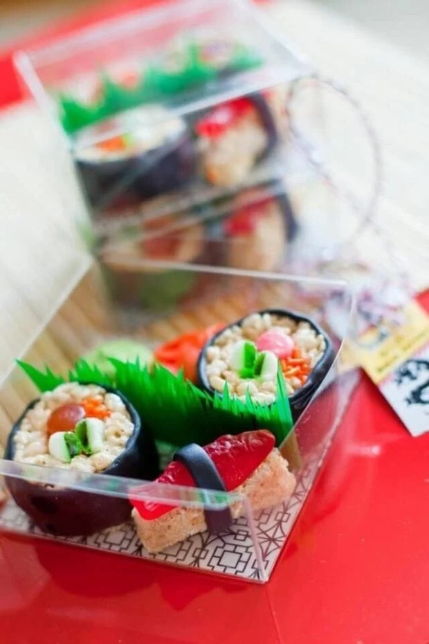 This delightful candy sushi will impress your guests.