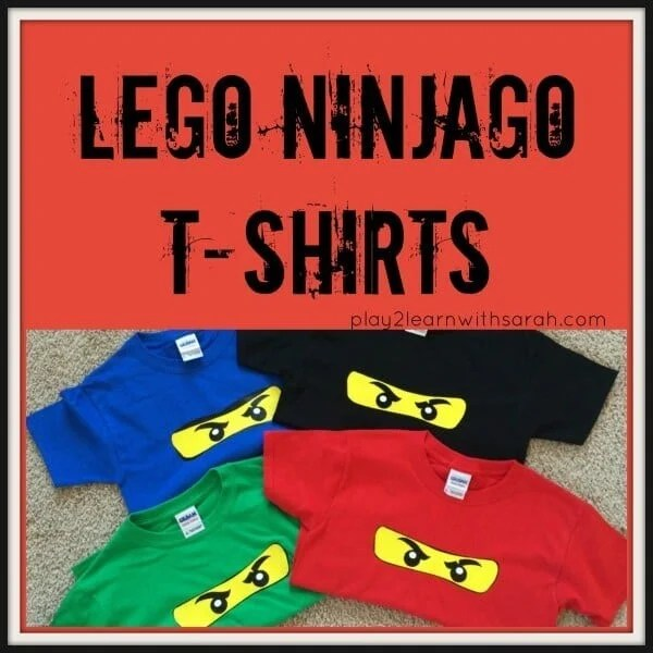 These clever Lego Ninjago T-shirts will make for delightful party favors.