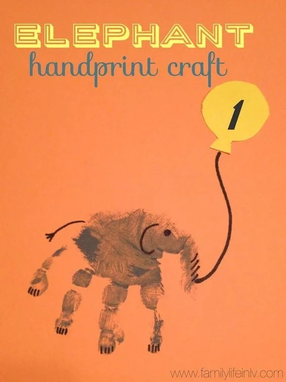 Elephant Handprint Craft