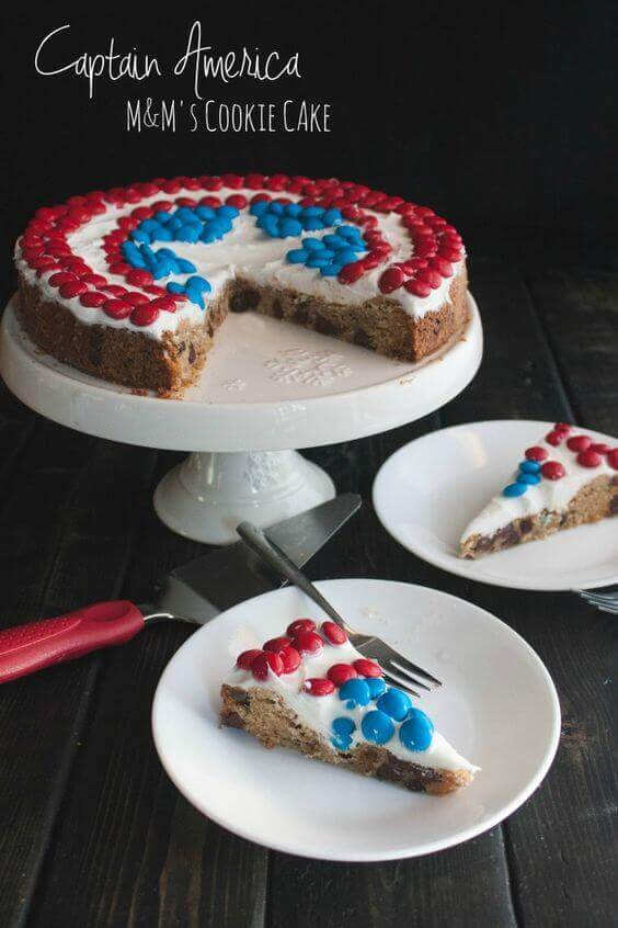 21 Captain America M&Ms Chocolate Chip Cookie Party Ideas