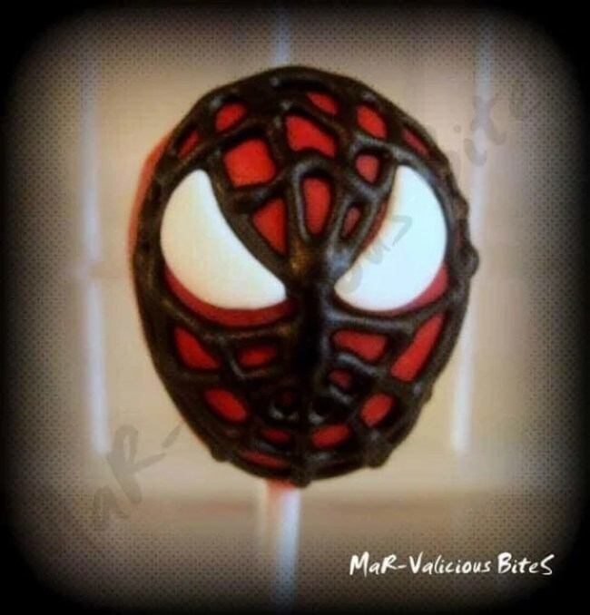 Delicious Spiderman cake pops are cute and tasty