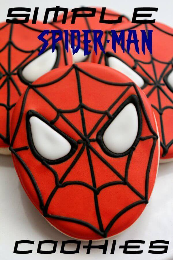 DIY Spiderman Cookies are simple to make and ice!