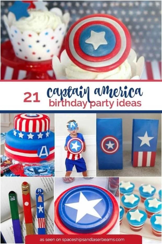 21 Captain America Birthday Party Ideas