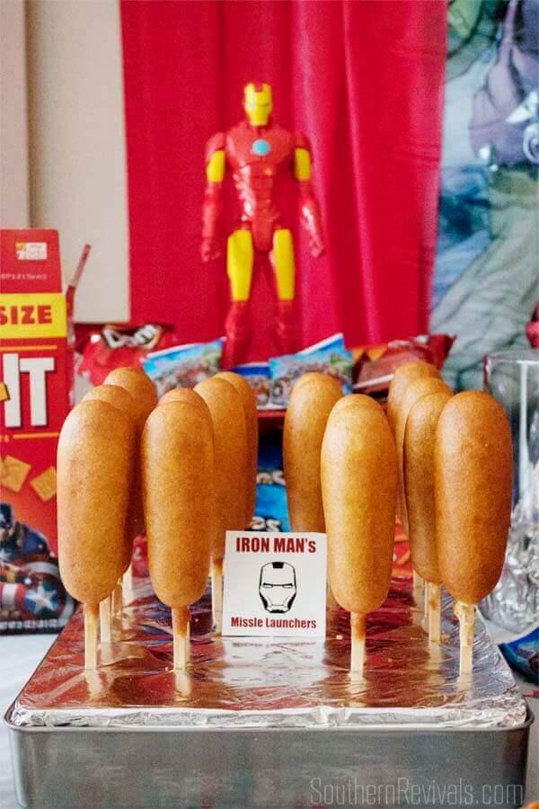 Iron Man Corn Dogs