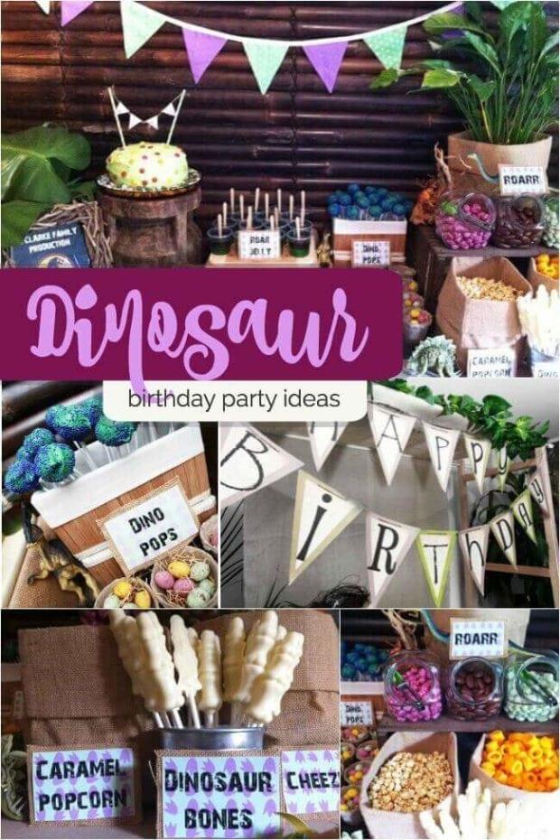 Boy's Dinosaur Birthday Party Ideas