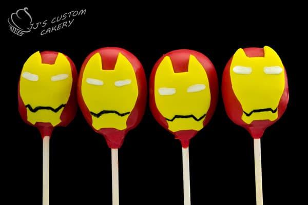 Iron Man Cake Pops