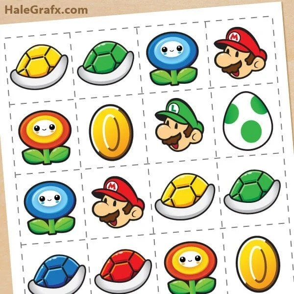 This Super Mario Brothers Memory Game and Free Printable is perfect for a party.