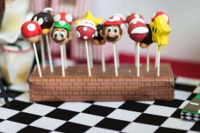 These Mario Brothers cake pops are wonderfully cute as well as tasty and theme-appropriate.