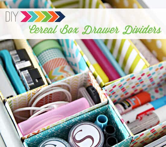 DIY Cereal Box Drawer Dividers