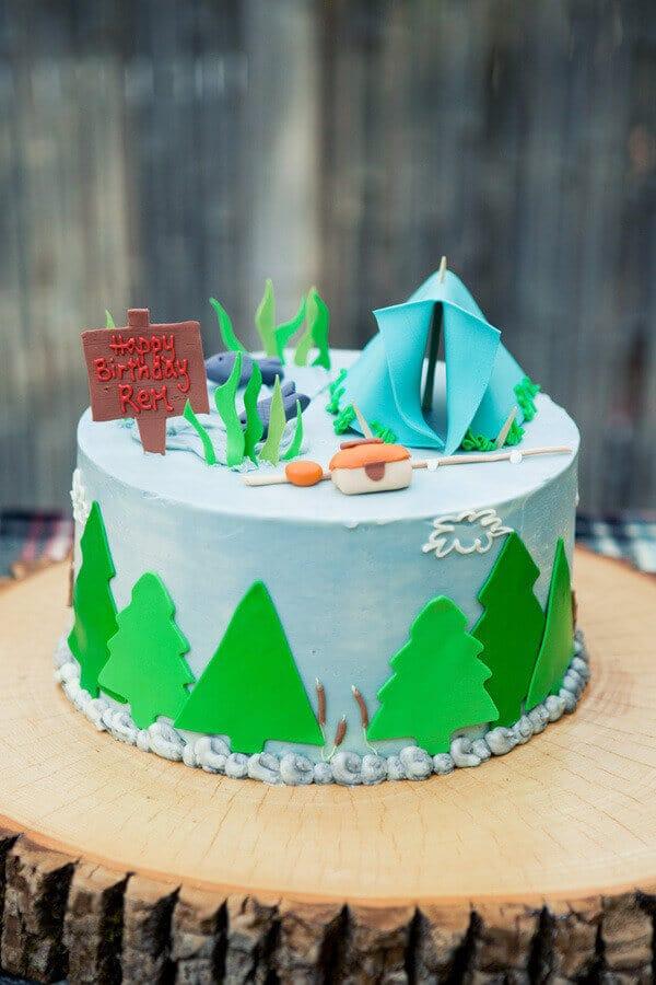 Boy's Fishing Themed Birthday Party
